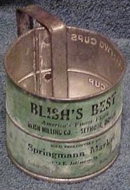 Blish Milling Company Flour Sifter From the genealogical collection of C. B. Blish